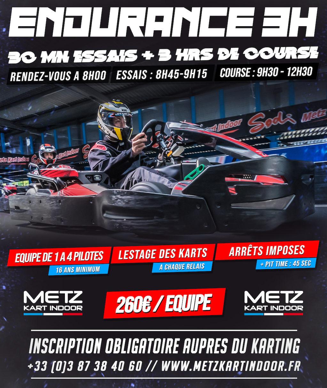 endurance 3H karting - Metz Kart Indoor