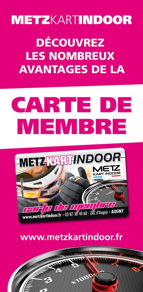 Avantages Carte de membre 2020 - Metz Kart Indoor